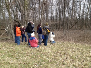 We had a great group of birders come out to the Sawmill Wetlands on April 6.