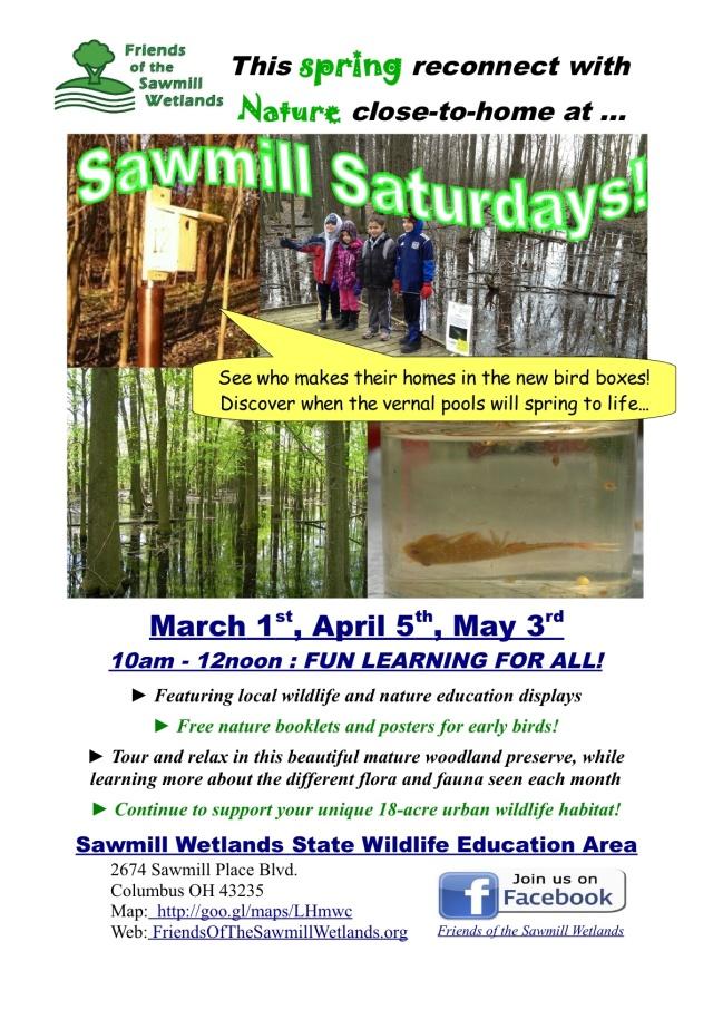 Sawmill Saturday, April 5th